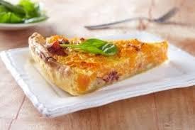 cuisine potimarron recette de tarte potimarron et châtaignes au jambon cru facile et rapide