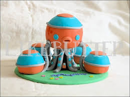 octonauts cake topper hunters party cake topper fondant octopod inspired cake topper by