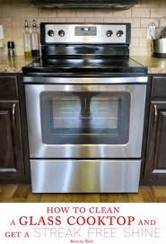 How To Clean A Ceramic Cooktop Stove How To Clean A Glass Cooktop And Get A Streak Free Shine Angela Says