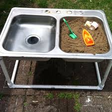 diy sand and water table pvc sand and water table my dad made out of a sink and piping miss