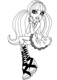 monster draculaura coloring free printable coloring pages