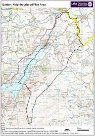 Lake District England Map by Lake District National Park Barton Parish