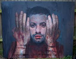 self portrait painting by uccimaru