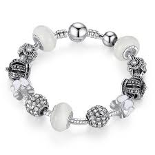 mothers day bracelet s day silver charm bracelet royal crown for women saleoff us