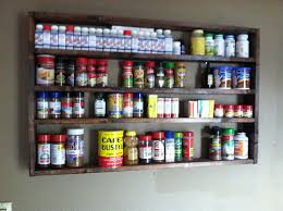 Rustic Spice Rack Kitchen Shelf Cabinet Made From Best Home Large Rustic Spice Rack Organization Kitchen Decor