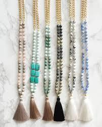 long beaded tassel necklace images Sale 50 off beaded tassel necklace mint green natural turquoise jpg