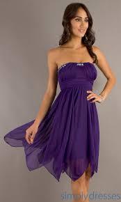 strapless purple short dress purple party dress simply dresses