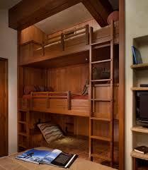 Contemporary Shelving Farmhouse Kids Bunk Beds Bedroom Contemporary With Wood Bunk Bed