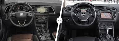 tiffany blue jeep interior seat ateca vs vw tiguan suv comparison carwow