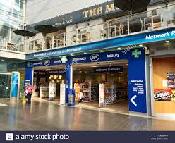 shop boots pharmacy boots shop inside piccadilly station manchester uk stock photo
