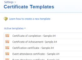 certificates arlo training u0026 event management software