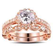 color sapphire rings images Tinnivi rose gold color round cut white sapphire sterling silver jpg