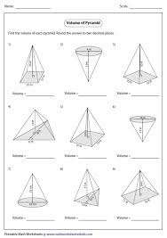 volume of a cone worksheet free worksheets library download and