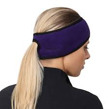 headband ponytail trailheads women s ponytail headband purple black co