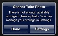 iphone cannot take photo iphone storage help so you never see storage full again