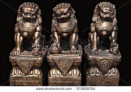 lion dog statue asian statue guardian lion foo stock photo 372809764