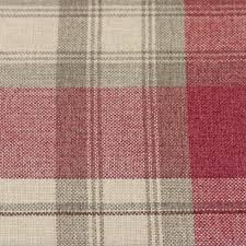 Pink Tartan Curtains Warm Cosy Rustic Tartan Check Scatter Cushion With Woven Wool