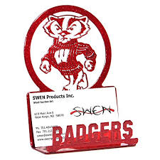 Uw Madison Business Cards Wisconsin Business Card Holder Wisconsin Badgers Business Card Holder