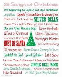 25 songs of christmas free printables