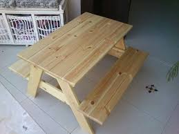 Plans For Picnic Table With Attached Benches by Best 25 Picnic Table Plans Ideas On Pinterest Outdoor Table