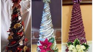 how to make christmas tree by paper easy 5 minutes for kids xmas