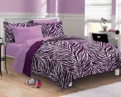 Zebra Bed Set Purple Zebra Bedding Xl Bed In A Bag