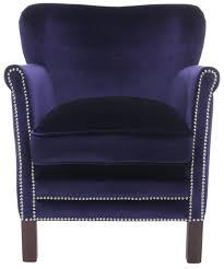 Navy Blue Velvet Accent Chair by Studded Navy Blue Accent Chair Office Space Pinterest Navy