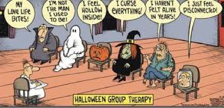 Halloween Funny Memes - halloween group therapy