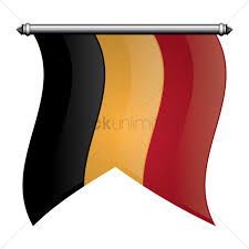 Belgia Flag Belgium Flag Pennant Vector Image 1588241 Stockunlimited