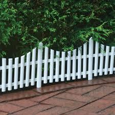 emsco white plastic picket fence 24