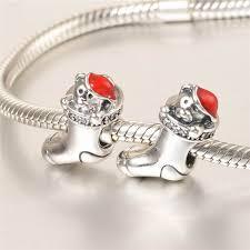 pandora style bracelet sterling silver images Fits pandora style bracelets 925 sterling silver red enamel teddy jpg
