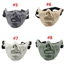 zombie skull skeleton half face masks for movie prop cosplay