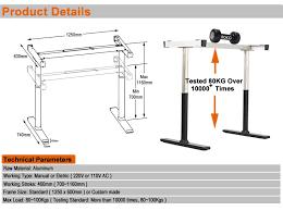 hauteur standard bureau ordinateur dm 002 ergonomique bureau meubles deux moteur réglable hauteur