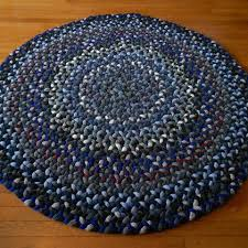 Round Wool Rugs Braided Wool Rug 1308 U2014round Rug In Blues U2013 Handcrafted Art Traditions
