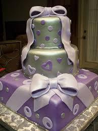 mymonicakes silver lavender u0026 purple gift box bridal shower cake