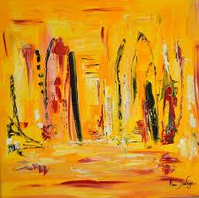 Tableau Abstrait Rouge Et Gris by Peinture Abstraite Jaune Et Rouge Au Couteau à Peindre