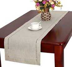 48 inch table runner handmade hemstitched natural rectangle lace table runners 14 48