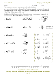 Rational Expression Worksheet Addition And Subtraction Of Radicals Worksheet U0026 Math Riddles