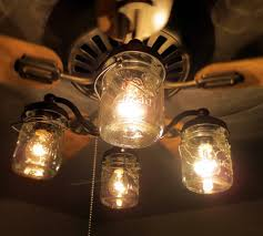 Hton Pendant Light Unique Ceiling Fan With Jar Shades Light Kit Fans Within