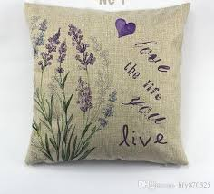 cover for chair lavender printed cushion cover for chair purple flower pattern