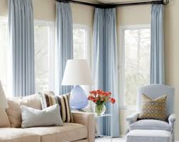 Light Blue And Curtains Light Blue Curtains Etsy