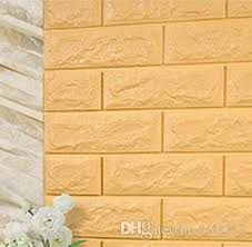 Wallpapers Home Decor 70x77cm Pe Foam Red 3d Wall Paper Safty Home Decor Wallpaper Diy