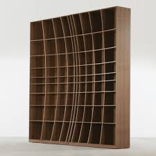 sculpturally creative concave bookcase by joined jointed