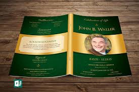 sle of funeral programs green regal funeral program publisher template from godserv on