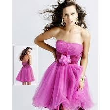 wedding dresses ideas flower belt strapless short length fuchsia