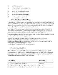 consultant u0027s technical u0026 financial proposal