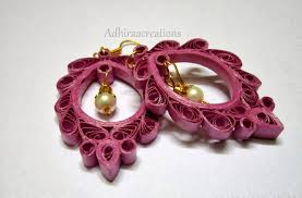 quilling designs adhiraacreations quilling earring designs