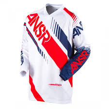 kids motocross jerseys answer racing syncron kids motocross jersey white red 2017