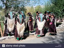 ladakh clothing ladakhi women in traditional clothing yak skin coat and turquoise