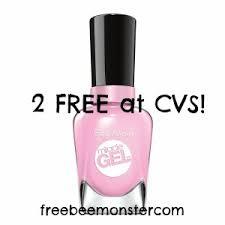 cvs 2 free sally hansen miracle gel nail polish valued at 9 99